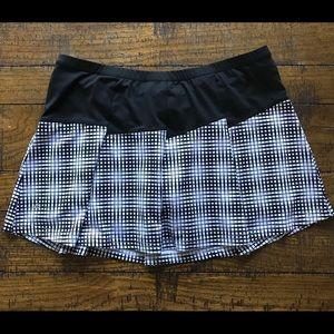 BOLLE tennis skort / black & white / SZ L